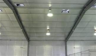 retrofit insulation inside steel shed warehouse steel