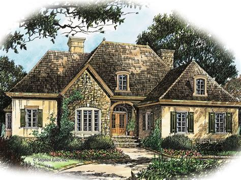 small french country cottage house plans house plan visalia hill stephen fuller inc