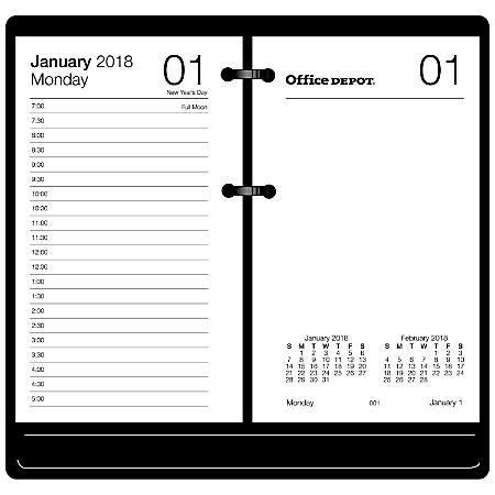 office depot desk calendars 2018 office depot brand desk calendar refill 3 12 x 6 white