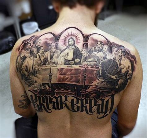 tattoo fonts with color religious themed colored the last supper painting