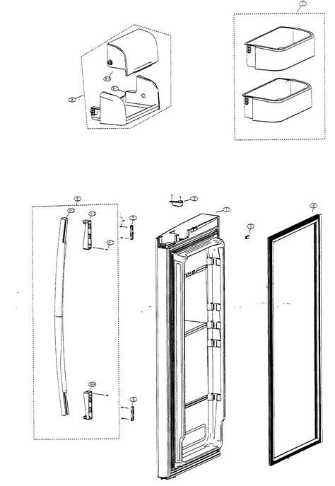 samsung parts refrigerator door right diagram parts list for model rf266abrsxaa samsung parts refrigerator