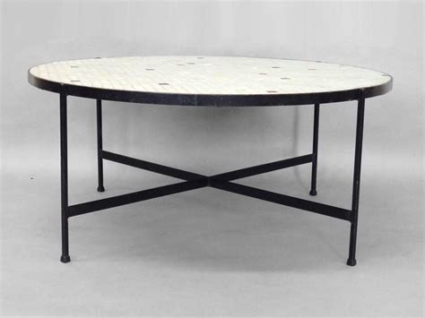 Black Wrought Iron Coffee Table With Glass Top Black Wrought Iron With Inset Glass Tile Top Coffee Table For Sale At 1stdibs