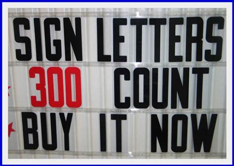 Letter Sign Board 8 inch plastic outdoor portable marquee sign