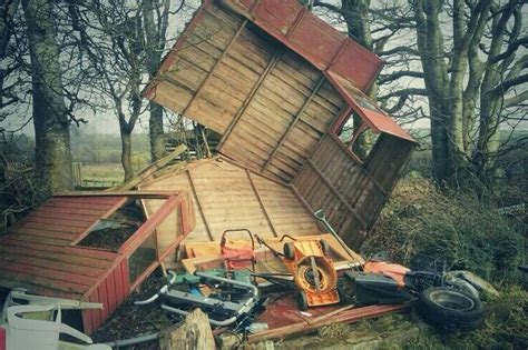 Windmill Sheds by Wales Weather 23 000 Homes Remain Without Power And There