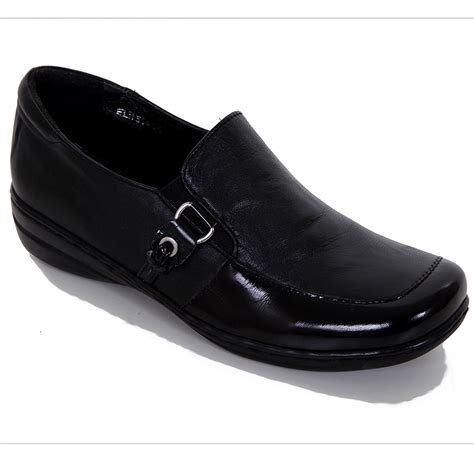 comfortable slip on shoes womens ladies slip on patent contrast leather upper insole women