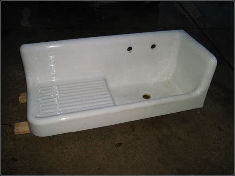antique cast iron kitchen sink with drainboard sinks and