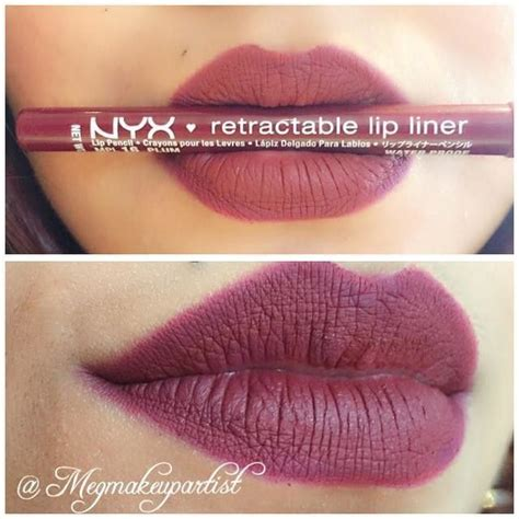 Nyx Retractable Lip Liner nyx lip liner in quot quot and nyx la la lipstick