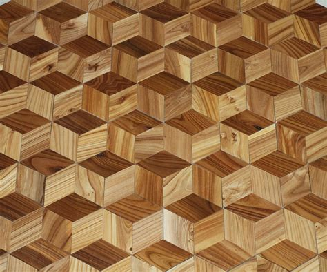3d woodworking make a hardwood floor that looks 3d from your own trees