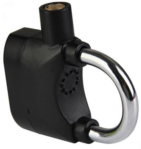 Gembok Motor gembok alarm motor suara anti maling lock siren black