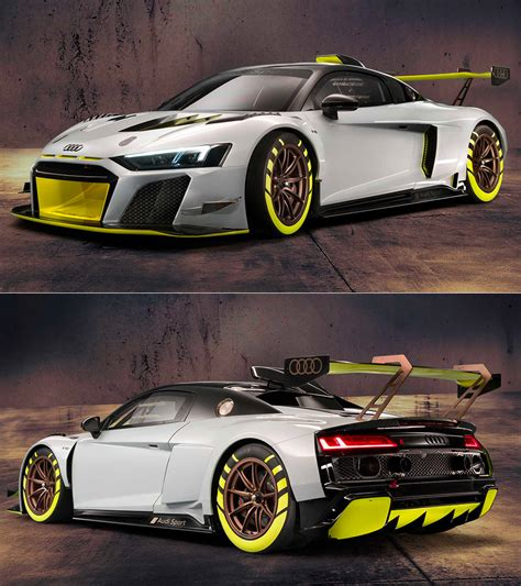 audi  lms gt    powerful customer racer