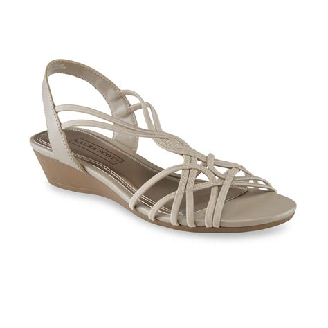 sears sandals womens s springy slingback wedge sandal