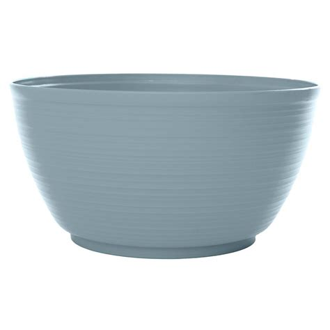 Plastic Planter Bowls by Bloem 12 In Meltwater Dura Cotta Plastic Plant Bowl Pb12