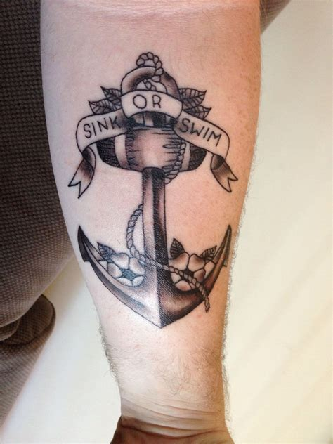 sink or swim tattoo anchor anchor sink swim ideas