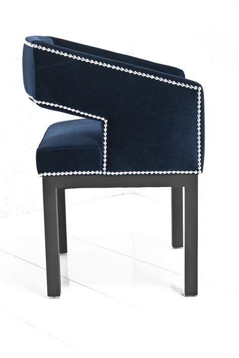 Open Back Chair Www Roomservicestore Com Open Back Chair In Navy Velvet
