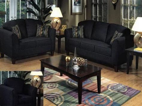Black Livingroom Furniture Black Living Room Table Sets Your Home