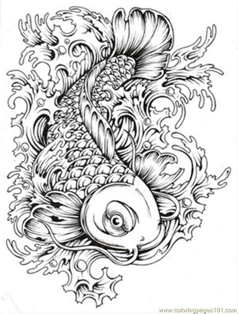 complicated fish coloring pages japanese coloring pages printable coloring page