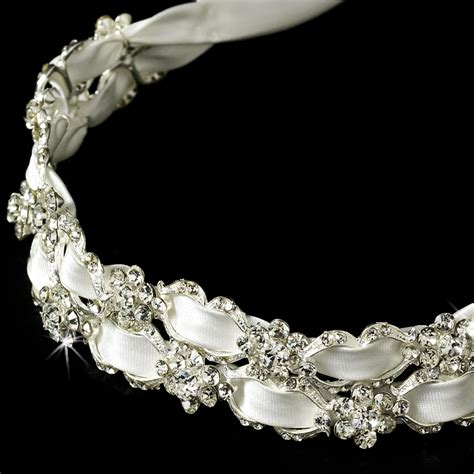 wedding accessories wedding favours bridal accessories bridal ribbon headband swarovski crystal flower elegant