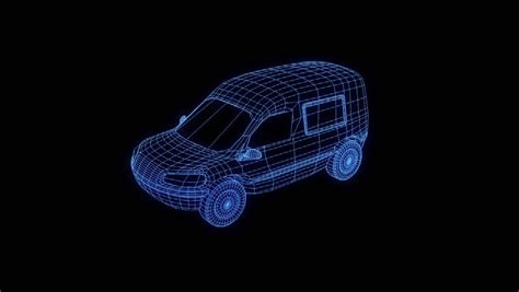 holographic jeep jeep in hologram wireframe style nice 3d rendering stock