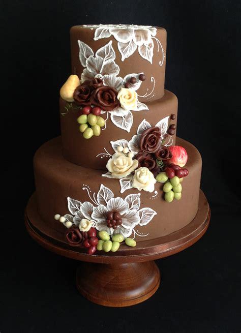 Wedding Cake Harvest by Harvest Showcase Fall Themed Wedding Cake By Elisa