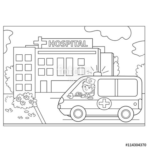 coloring books realm 3 43 grayscale coloring pages of fairies flowers ponies elves and more realm grayscale coloring books for adults volume 3 books quot coloring page outline of ambulance car near the hospital