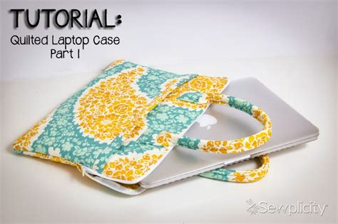 pattern for quilted notebook cover quilted laptop case part 1 sewplicity
