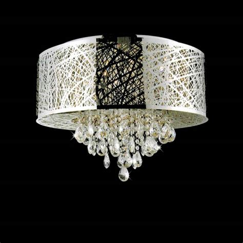 449 10 22 quot web modern laser cut drum shade crystal