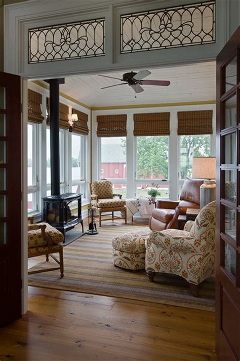 Transom Windows Images Decorating Farmhouse Style Home Farmhouse Sunroom Other Metro By Ksf Architects