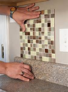 How To Install A Mosaic Tile Backsplash In The Kitchen by How To Install A Backsplash How Tos Diy