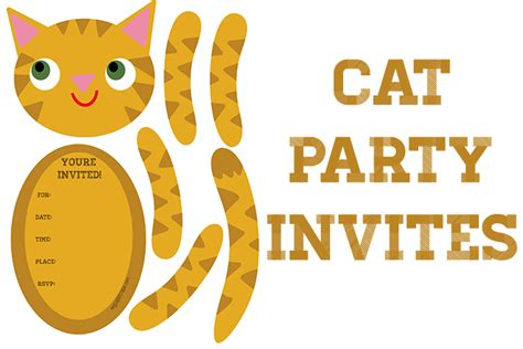 free printable birthday invitations with cats cat themed party invitations my paper crane