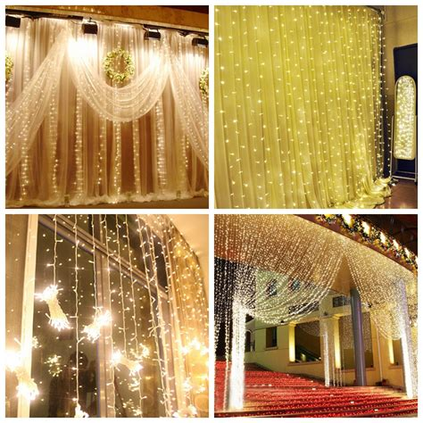 300 led 3mx3m fairy string curtain lights christmas
