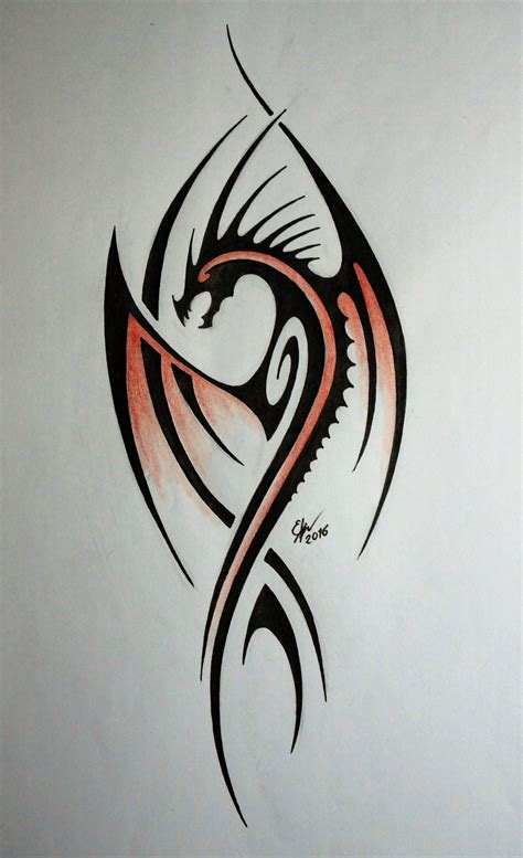 tribal dragon by esmeekramer on deviantart
