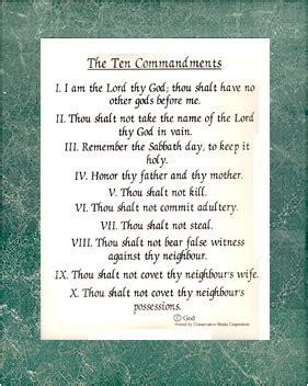 10 Commandments Printable Poster