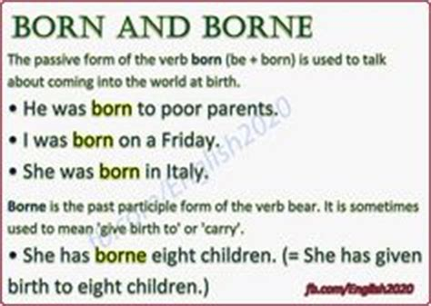born meaning verb verbs followed by infinitives english do you speak
