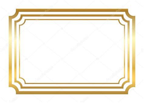 cornici d oro cornice d oro bello stile semplice d oro vettoriali