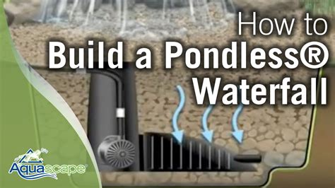build  pondless waterfall aquascape youtube