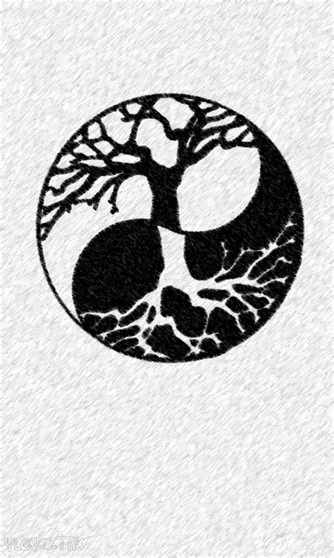 yin yang tree tattoo ying yang tree design ideas