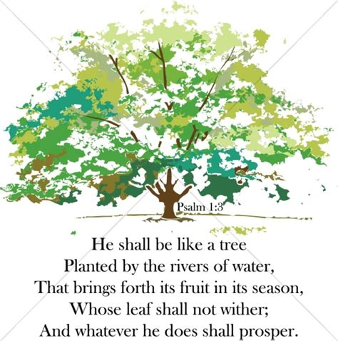 a tree planted by rivers scripture word art