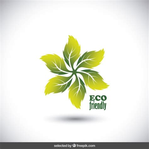 Eco Friendly Logo Made With Leaves Vector Free Download Eco Vectors Photos And Psd Files Free