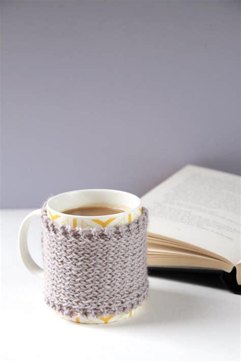 knitting mug gray days knitted mug cozy allfreeknitting