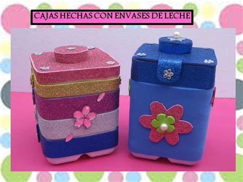 dulceros con cajas de leche cajas hechas con envases de leche youtube