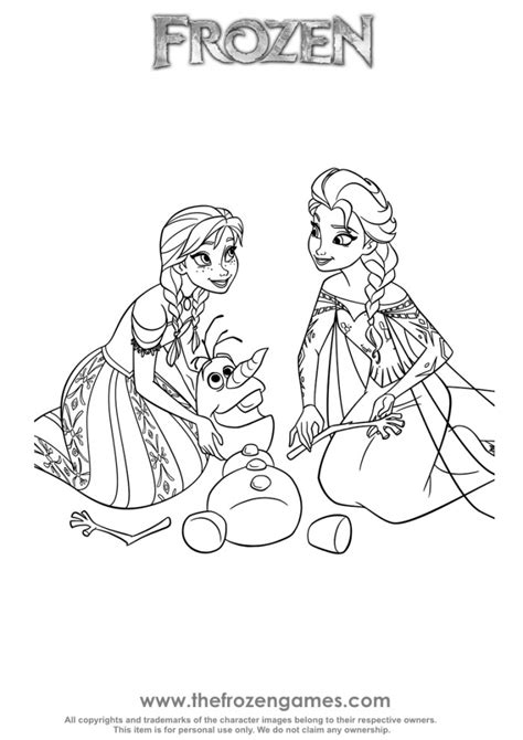 coloring pages games frozen anna and elsa olaf rescue frozen games