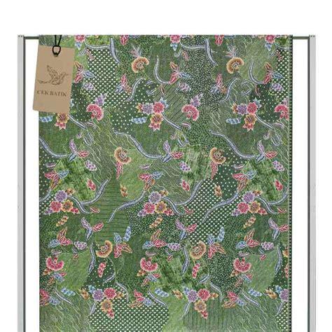 Kain Batik Motif Sulur Bunga jual cek batik motif modern 3 bunga warna manis kain batik hijau muda harga