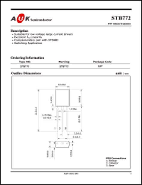 transistor b772 datasheet auk co ltd b772 series datasheets stb772 b772 datasheet