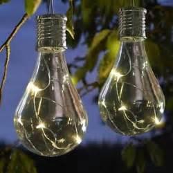 solar light bulbs 2 x solar powered hanging light bulbs solar garden lights