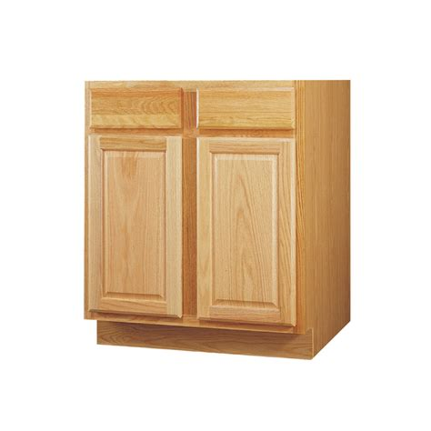 kitchen cabinet sink base shop kitchen classics 34 5 in h x 36 in w x 24 in d oak
