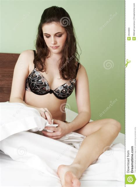 pretty girl beds pretty woman in bed stock photos image 2944893