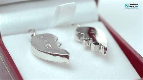 cadenas de plata corazones partidos dije de plata coraz 243 n partido ideal como regalo