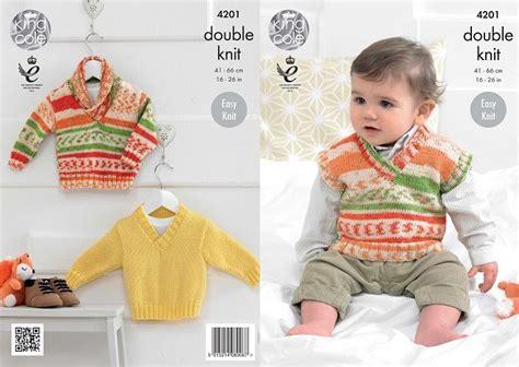 Benang King Cole Tropical king cole cherished dk baby boys sweaters tank top knitting pattern 4201
