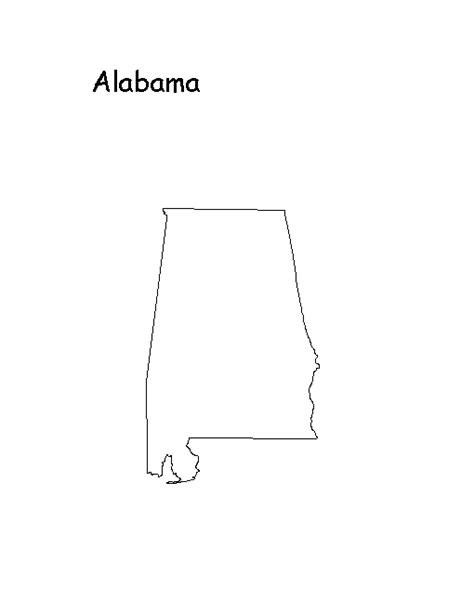 alabama map outline state outline maps