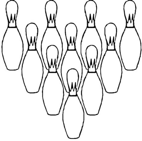 ten pins coloring page supercoloring com